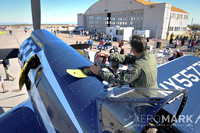 "The F2G-2 ""Super Corsair"" ""Race 74"" visits Coolidge, piloted by Bob Odegaard."